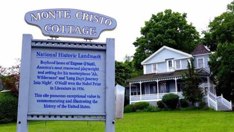 Monte Cristo Cottage in New London, Conn., was the boyhood summer home of playwright Eugene O'Neill.