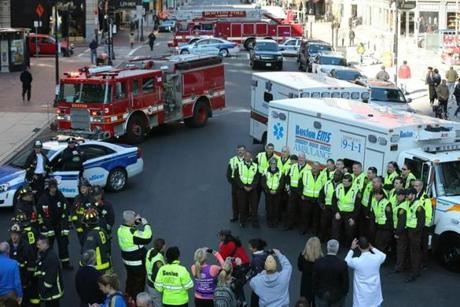 Boston EMS gathered for a photo.