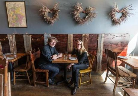 Bronwyn chef Tim Wiechmann and general manager Bronwyn Wiechmann added soundproofing to help reduce noise at their Somerville restaurant.