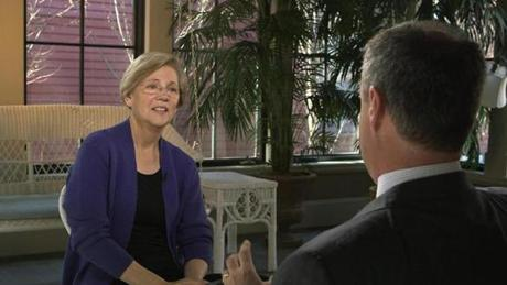 """I'm not running for president,"" Elizabeth Warren told Mark Strassmann of CBS News. It is a question many have posed."