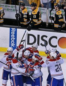 The Bruins went home disappointed on Thursday after losing Game 1 of the series with Montreal 4-3 in two overtimes.