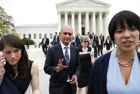 It was an honor to see their case argued before the Supreme Court (pictured), Aereo executives say, but frustrating to witness the lengths the TV industry has gone to fight them.