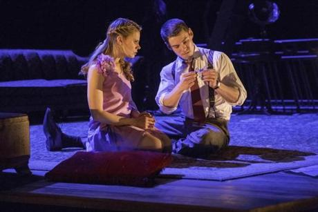 "Celia Keenan-Bolger as Laura and Brian J. Smith as Jim in a scene from ""The Glass Menagerie."""