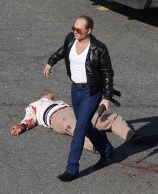 Actor Johnny Depp, as Whitey Bulger, filmed a violent murder scene in Lynn. Director Scott Cooper re-created the 1982 murder of Brian Halloran, who was killed by Bulger as he left the Topside Café with Michael Donahue.
