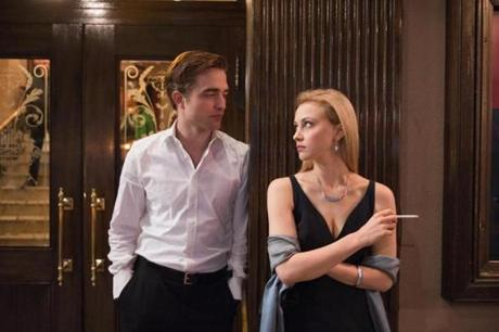 "Robert Pattinson and Sarah Gadon in ""Cosmopolis."""