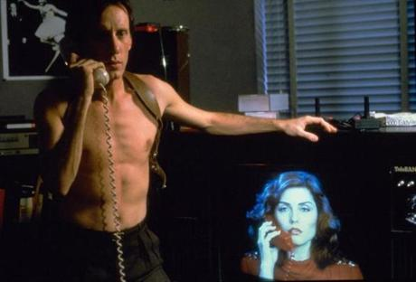 "James Woods and Debbie Harry in ""Videodrome."""