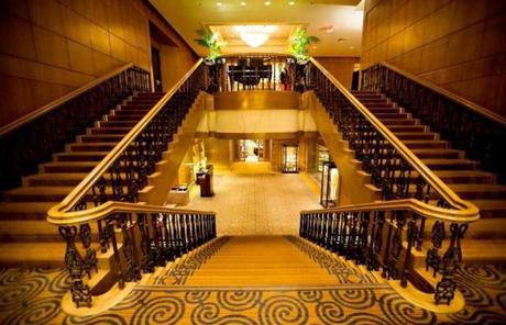 The grand staircase at Boston's existing Four Seasons hotel, located at 200 Boylston Street.
