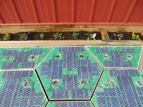 A prototype of parking lot using solar panels.