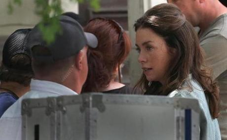 Julianne Nicholson was seen at filming on East Broadway in South Boston.
