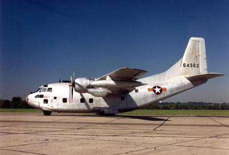 A C-123 Provider plane of the type used in Vietnam and later flown by Matte on domestic missions.