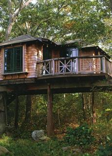 Nelson Treehouse and Supply of Fall City, Wash., built this treehouse with the varied rooflines and the Arts-and-Crafts-style elements on the Cape.