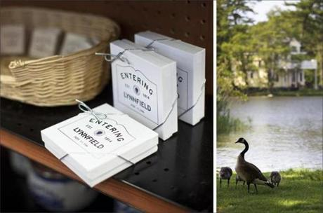 Trinkets are for sale at the old-timey and eccentric Village Pharmacy; A protective mother goose watches over her goslings at Pillings Pond.
