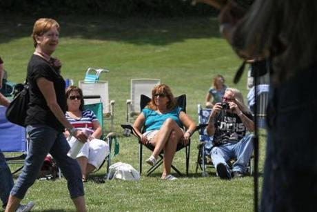 People of all ages turned out for the first-ever all-town Rockport Reunion held on Saturday, July 5, at Evans Field baseball park.