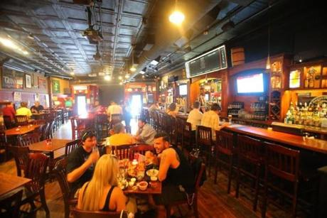 Olde Magoun's Saloon in Somerville offers several imported and local craft beers and a welcoming atmosphere.