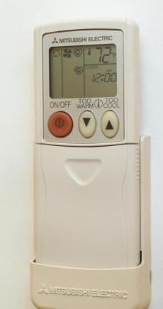 Remote controls operate the two small Mitusbishi units that provide heating and cooling when needed.