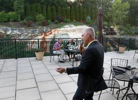 At Rosaria Steakhouse in Saugus, Dom Catino sings Sinatra-inspired tunes on the outdoor deck.