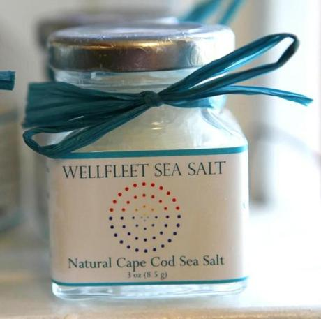 Wellfeet Sea Salt available for sale at the South Wellfleet General Store.