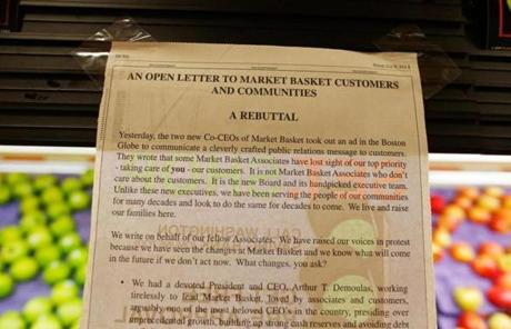 A notice was seen at a store in Tewksbury.