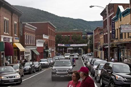 The downtown area of Great Barrington