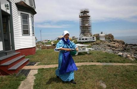 Sally Snowman, the lighthouse keeper at Boston Light.