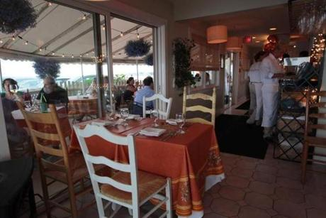 The main dining area. Windows all around afford spectacular ocean views, no matter where you dine.