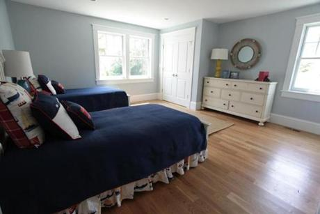 The two children's bedrooms are sunny and large, with big closets.