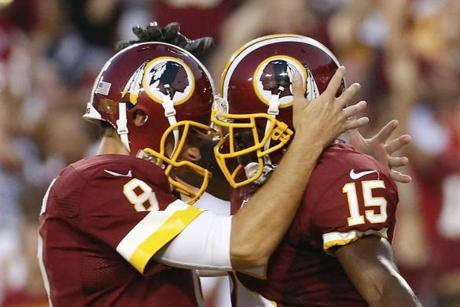 Kirk Cousins joined in Robinson's celebration.