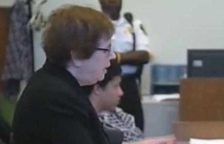 Defense attorney Denise Regan and Chism were in court today.
