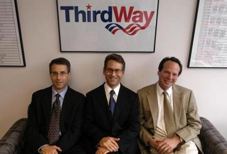 Matt Bennett, Jonathan Cowan, and Jim Kessler, three of the five co-founders of Third Way.)