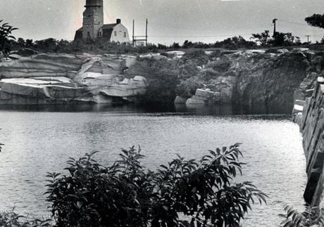 August 4 1967 / fromthearchive / Globe Staff photo by Joyce Dopkeen / The old light house at Halibut Point in Rockport as seen from the fresh water quarry there.