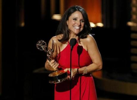 Julia- Louis Dreyfus accepted the award for outstanding lead actress in a comedy series for her role in HBO's