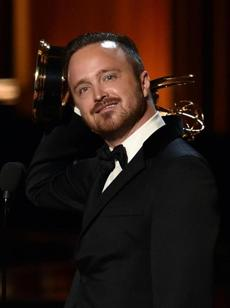 Aaron Paul accepted the Outstanding Supporting Actor in a Drama Series Award for his role in