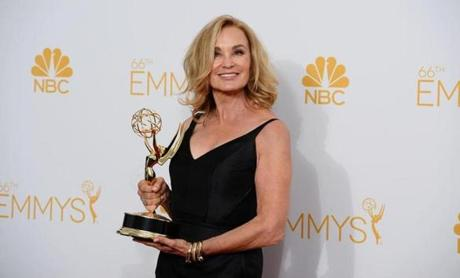 Jessica Lange posed with her award.