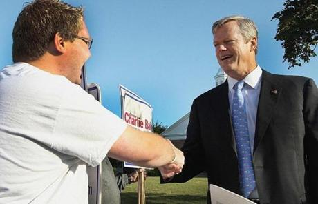 GOP gubernatorial hopeful Charlie Baker voted in Swampscott this morning.