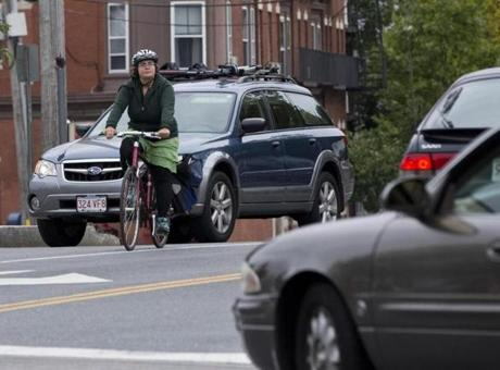 Collisions involving bicycles in the Greater Boston suburban area increased by 9 percent from 2010 to 2012.