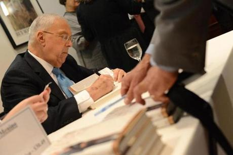 In mid-October, Menino kicked off a book tour in New York to promote his autobiography.