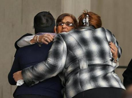 City workers hugged each other as they mourned Menino.