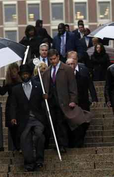 Mayor Martin Walsh led a group of officials from City Hall to pay their respects.