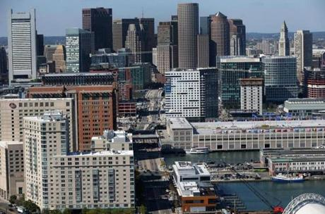 South Boston and the Financial District.