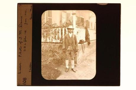 Theodore M. Davis at the Grand Hotel in Luxor, Egypt, in 1902.