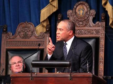 Governor Deval Patrick delivered his annual State of the Commonwealth address in January 2013.