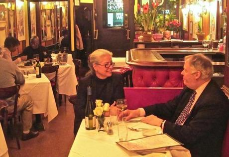 04travfood - Second generation proprietor Cathy Trebeaux spends most of each evening chatting with longtime and first-time guests. (Liza Weisstuch for The Boston Globe)