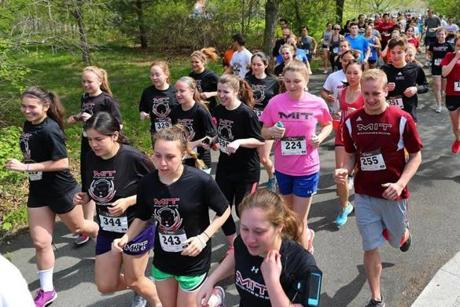 About 400 people participated in the POTS Walk and 5K in Medford.