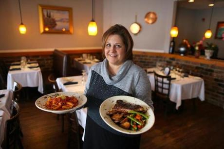 Marria Loffredo Shows Off The Food   And The Atmosphere   At Vico  Ristorante In Norwood