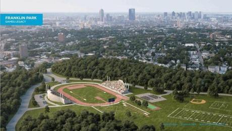 A rendering of what Franklin Park would look like following the Olympic Games.