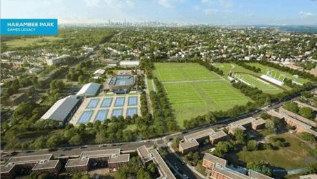 Boston 2024's plans for the park following the Games include restorations and additions, including a playground area and community gardens.