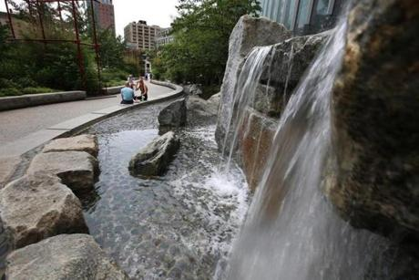 Chinatown Stream along the Rose Fitzgerald Kennedy Greenway.