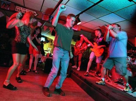 Patrons danced throughout 2000 to the audio in the band Ransom, one of the many local acts that found a property at the Beachcomber.
