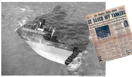 The daring rescue of 32 men from the broken tanker SS Pendleton on Feb. 18, 1952, made headlines.