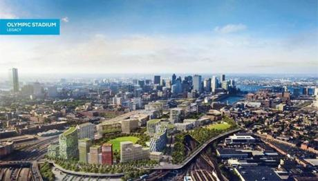 Boston 2024 developed renderings for what Widett Circle might look like after the Games. Now, city officials promise to seek public input about redeveloping the area.